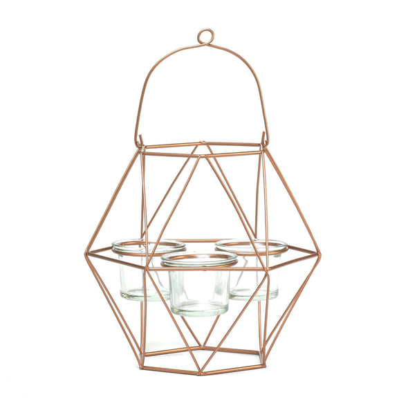 Trendy Copper Wired Tea-Light Candle Holder