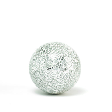 Silver Glass Mosaic Decorative Ball