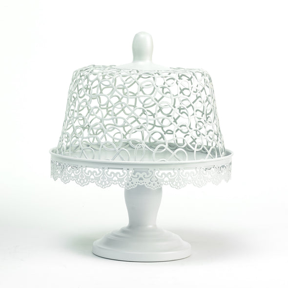 Silver-White Filigree Lace Cake Stand