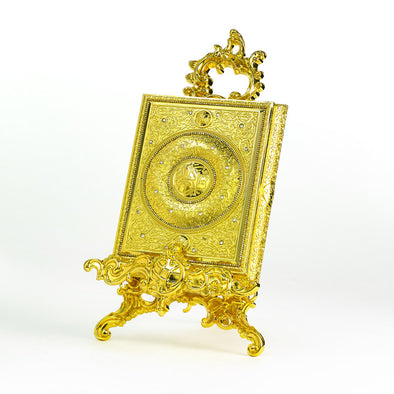 Luxurious Gold Quraan Box With Stand