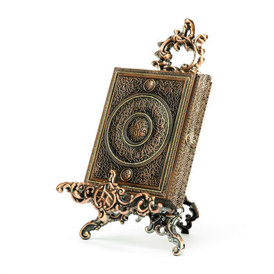 Luxurious Copper Bronze Quraan Box With Stand