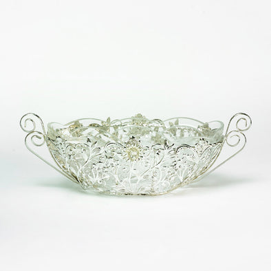 Majestic Silver Ornate Large Fruit Bowl