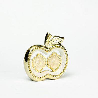 Gold & White Arabic Scripted Decorative Apple Sculpture