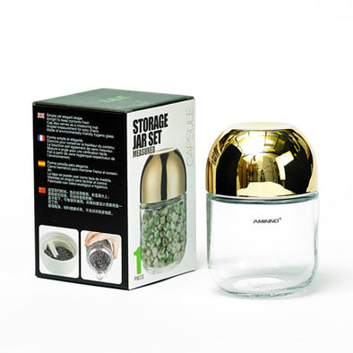 Capsule Gold Storage Jar