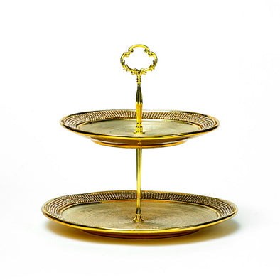 Majestic Gold Diamante 2 Tier Stand