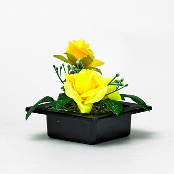 Floral Decorative Yellow Silk Roses