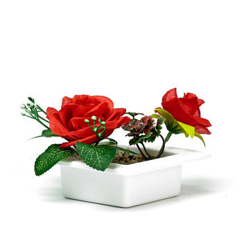 Floral Decorative Red Silk Roses