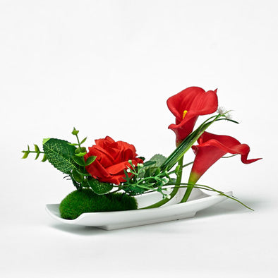 Artificial Red Rose & Lily Of The Valley