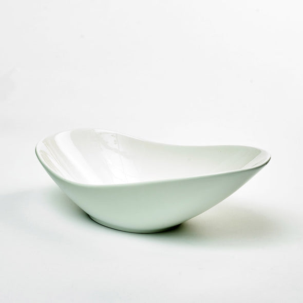 Classic White Porcelain X-Large Deep Curved Salad Bowl