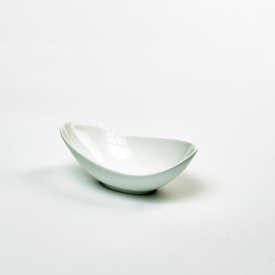Classic White Porcelain Medium Deep Curved Salad Bowl