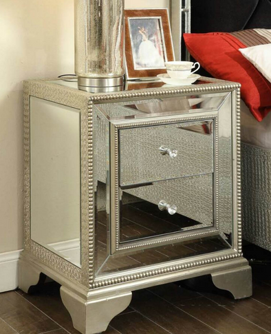 Sofia Mirrored Bedside Table