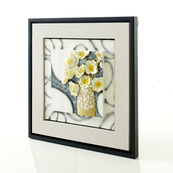 Beautiful 3d Yellow Flower Frame