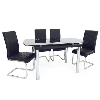 California Extending Dining Set (4 New York Chairs)
