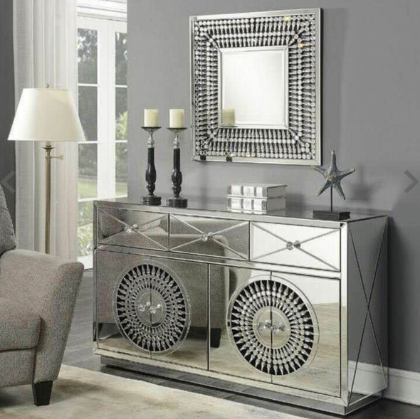 Crystal Mirrored Sideboard