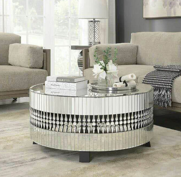 Crystal Mirrored Coffee Table