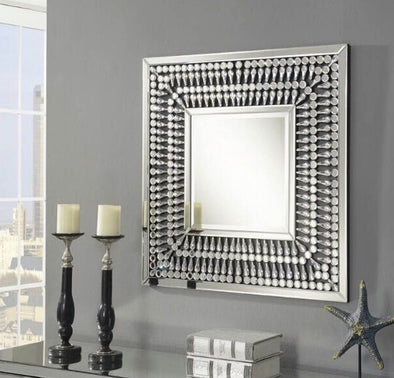 Crystal Mirrored Square Wall Mirror