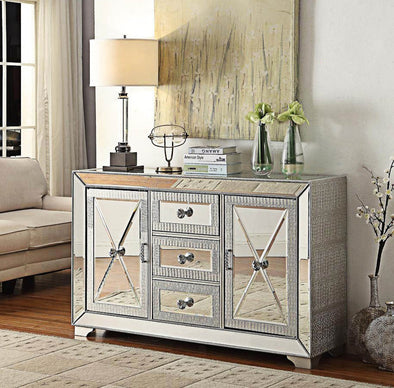 Sofia Mirrored 3 Drawer Sideboard