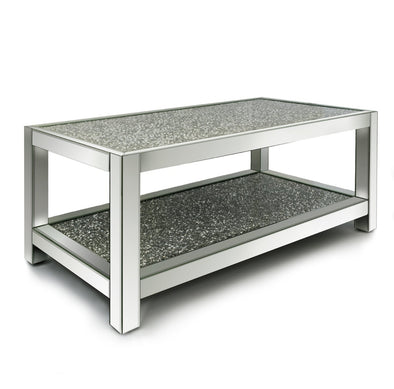 Two Tier  Diamond Crush Coffee Table