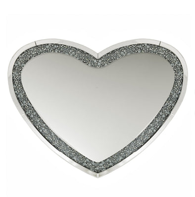 Mocka Heart Crushed Diamind Mirror