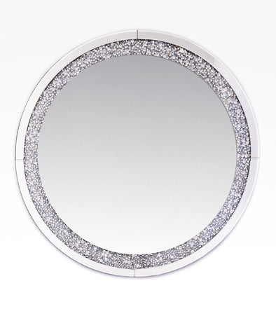 Crushed Diamond Round Mirror