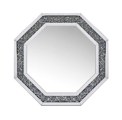 Crushed Diamond Octagon Mirror
