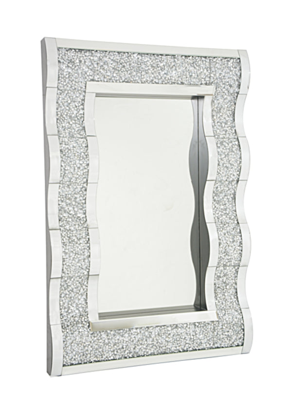 Crushed Diamond Wave Mirror