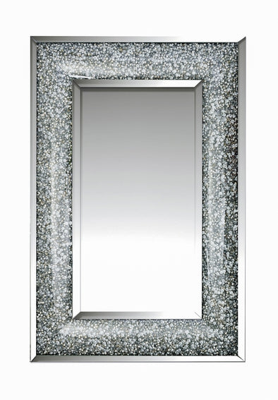 Crushed Diamond Curved Mirror
