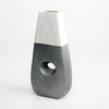 Modern Marble White & Grey Textured Loop-Hole Vase