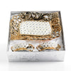Classic Pearl Embellished Gold Decorative Stand & Candle Holder Set