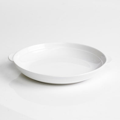 Classic White Porcelain Round Held Casserole Bowl
