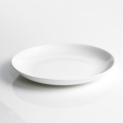 Classic White Porcelain Deep Round Platter