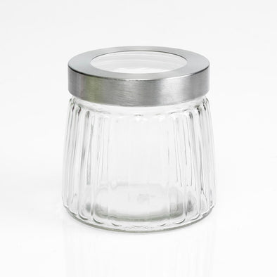 Silver Lidded Storage Jars