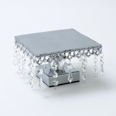 Luxurious Crystal Square Cake Stand