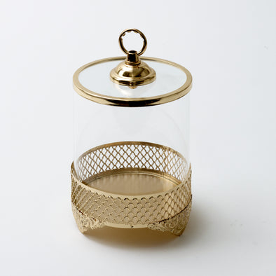 Luxurious Gold Decorative Jar