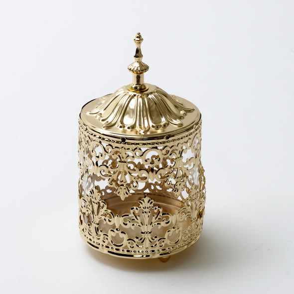 Luxurious Gold Decorative Jars