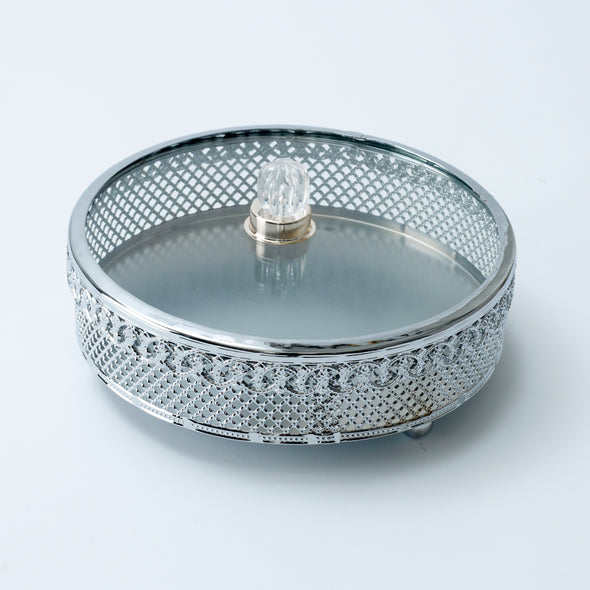 Luxurious Silver Trinket Box