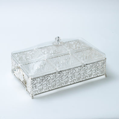 Silver Ornate Snack Tray