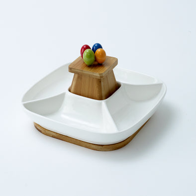 Modern Bamboo Fruit Serving Bowl