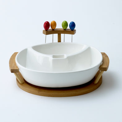 Modern Bamboo Fruit Bowl