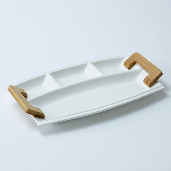 Modern Bamboo Snack Tray