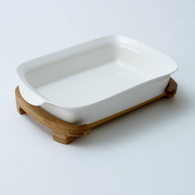 Modern Bamboo Serving Bowl
