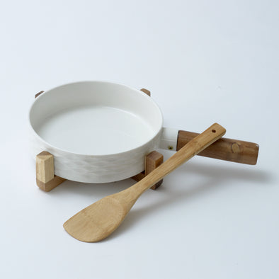 Modern Bamboo Pan Serving Bowl