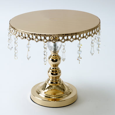 Luxurious Gold Crystal Round Cake Stand