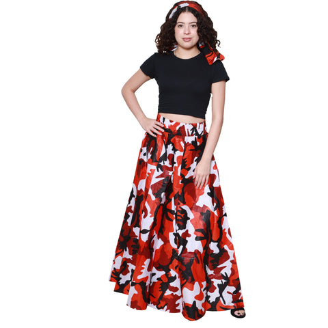CAMOUFLAGE LONG SKIRTS