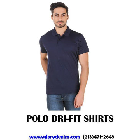 Mens Polo Dri Fit Navy- 1 Dozen
