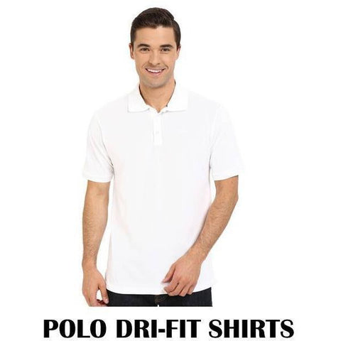 Mens Polo Dri Fit White- 1 Dozen
