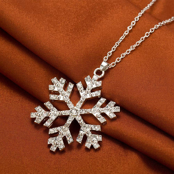 Brillant strass Flocon de neige Collier Pendentifs