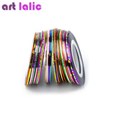 30 multicolores couleurs mixtes Rolls Striping bande ligne nail art