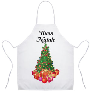 Buon Natale Italian Christmas Tree Holiday Apron - Shop Italy and Sicily Gifts Made in Italy Italian Themed