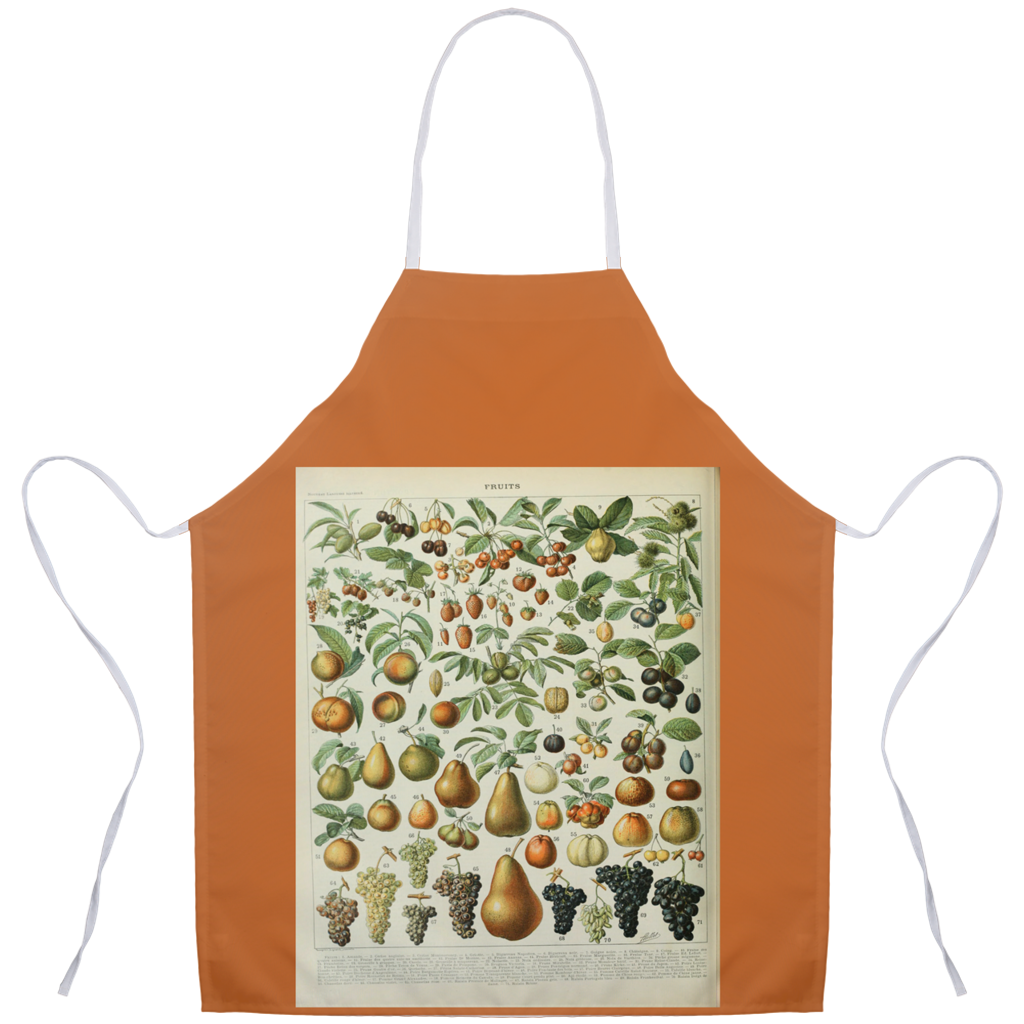 Adolphe Millot Fruit Vintage Art Chef Apron - Shop Italy and Sicily Gifts Made in Italy Italian Themed